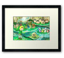 Legend of Zelda Forest Friends Poster Framed Print