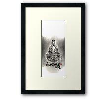 Buddha buddhist sumi-e tibetan calligraphy 禅 original ink painting artwork Framed Print