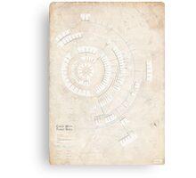 Greek Myth Family Spiral (Infographic) Canvas Print