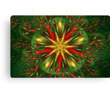 Tiled Christmas Star Canvas Print