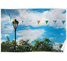 Bunting Flags in Ligosullo Poster