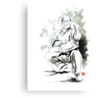 Karate martial arts kyokushinkai Masutatsu Oyama japanese kick japan ink sumi-e Canvas Print