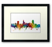 Raleigh North Carolina Skyline Framed Print
