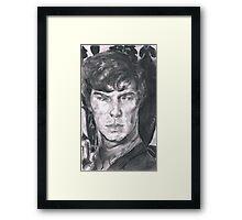 Charcoal Sherlock Framed Print