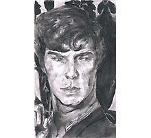 Charcoal Sherlock Photographic Print