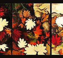 Autumn in Water -tryptich by Barbora  Urbankova