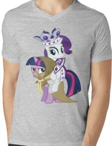 Princess Rarity and Twilight the Clever Mens V-Neck T-Shirt