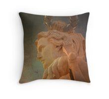 Anjo Génio. Angel Genius. Triumph Arch. Throw Pillow