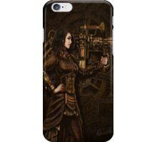 Steam Punk Girl Holding Antique Rocket Launcher iPhone Case/Skin