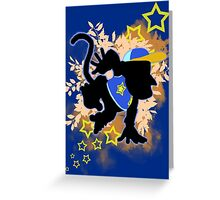 Super Smash Bros. Blue Diddy Kong Silhouette Greeting Card