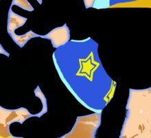 Super Smash Bros. Blue Diddy Kong Silhouette Sticker
