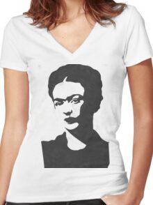 Frida Kahlo Sticker/Tshirt Women's Fitted V-Neck T-Shirt