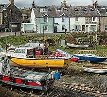 Boats at Craster by Judi Lion