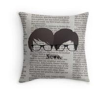 News. Throw Pillow