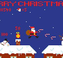 Merry Christmas Pixel Game by Jamie Harrington