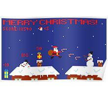 Merry Christmas Pixel Game Poster