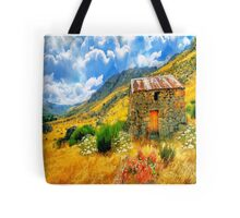 Abandoned Stone Hut in the Mountains Tote Bag