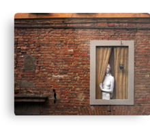 Donna alla finestra, Siena, Italy Metal Print