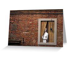 Donna alla finestra, Siena, Italy Greeting Card