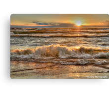 Rough Waters at Sunset Canvas Print