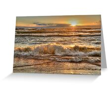 Rough Waters at Sunset Greeting Card