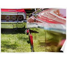 Red Chevy Impala Reflection Poster