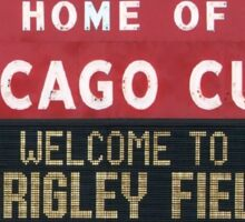 Chicago Home of Baseball Fever Sticker