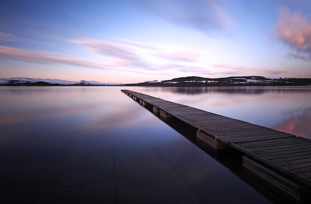 Loch lomond jetty by Grant Glendinning