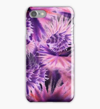 Abstract Purple Flowers iPhone Case/Skin
