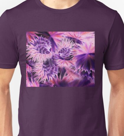 Abstract Purple Flowers Unisex T-Shirt