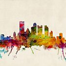 Pittsburgh Pennsylvania Skyline by Michael Tompsett