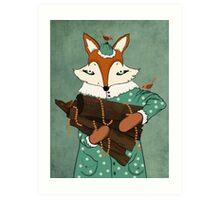 Blue eyes fox Art Print