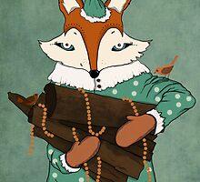 Blue eyes fox by Egle Plytnikaite