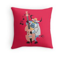Cool Bull Playing Contrabass!!! Throw Pillow