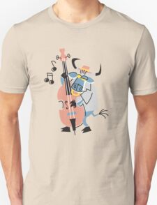Cool Bull Playing Contrabass!!! T-Shirt