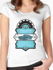 Vintage car Mustang GT 1964 1968 Women's Fitted Scoop T-Shirt