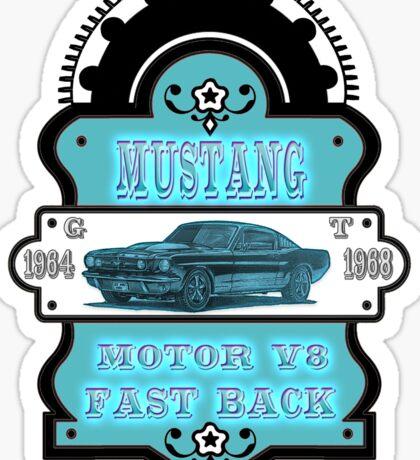 Vintage car Mustang GT 1964 1968 Sticker