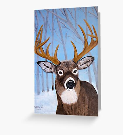 Winter Buck Greeting Card