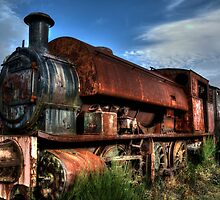 Rusting Locomotive by Andrew Pounder