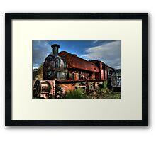 Rusting Locomotive Framed Print