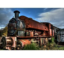 Rusting Locomotive Photographic Print