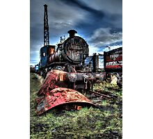 Railway Yard Steam Engine Photographic Print
