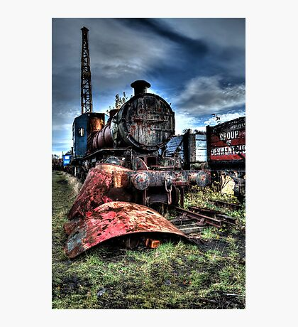Railway Yard Steam Engine Photographic Print