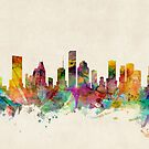 Houston Texas Skyline by Michael Tompsett