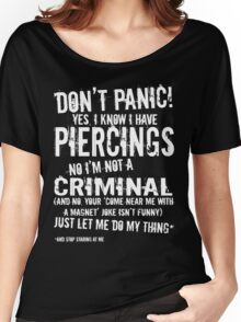 I Am Pierced (white lettering) Women's Relaxed Fit T-Shirt