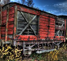 Red Waggon by Andrew Pounder