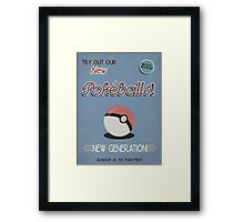 Vintage Pokemon Poster - Pokeball Framed Print