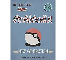 Vintage Pokemon Poster - Pokeball Photographic Print