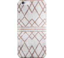 Chic Modern Faux Rose Gold Geometric Triangles iPhone Case/Skin