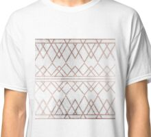 Chic Modern Faux Rose Gold Geometric Triangles Classic T-Shirt